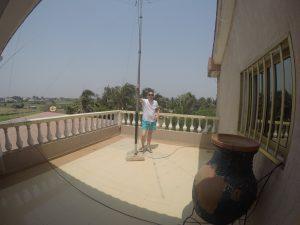 hexbeam on the balcony